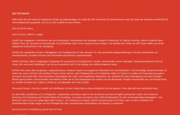Vorschau von www.iidbremen.de, Institut für Integriertes Design (:i/i/d)