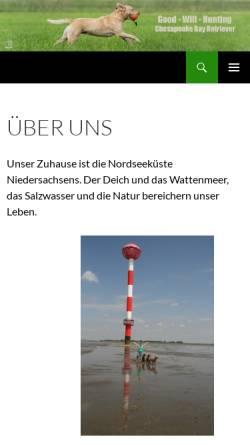 Vorschau der mobilen Webseite good-will-hunting.com, Good Will Hunting