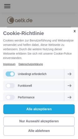 Vorschau der mobilen Webseite www.coaching-aetk.de, Dr.Alexander et Kreutzer