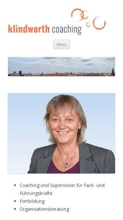 Vorschau der mobilen Webseite www.klindworth-coaching.de, Klindworth-Coaching - Dr. Gisela Klindworth