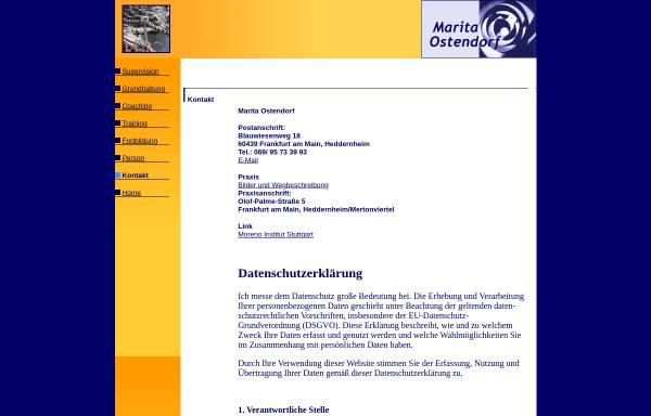 Vorschau von www.ostendorf-supervision.de, Marita Ostendorf - Supervision und Coaching