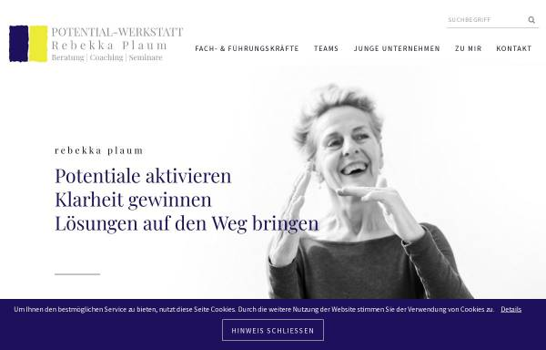 Vorschau von www.potential-werkstatt.de, Potential-Werkstatt - U. Rebekka Plaum
