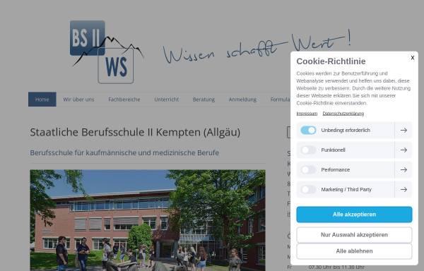 Vorschau von www.bs2-kempten.de, Staatliche Berufsschule II und Wirtschaftsschule
