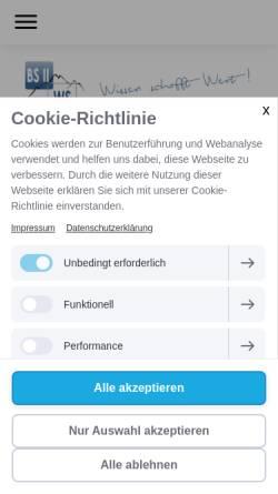 Vorschau der mobilen Webseite www.bs2-kempten.de, Staatliche Berufsschule II und Wirtschaftsschule