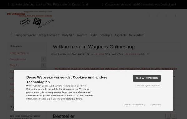 Vorschau von www.wagners-onlineshop.com, Wagners-Onlineshop.com, Karsten Wagner