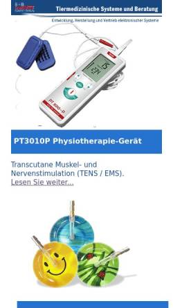 Vorschau der mobilen Webseite www.submedvet.de, S+B medVET GmbH