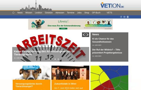 Vorschau von www.vetion.de, Tierärzteverzeichnis Deutschland