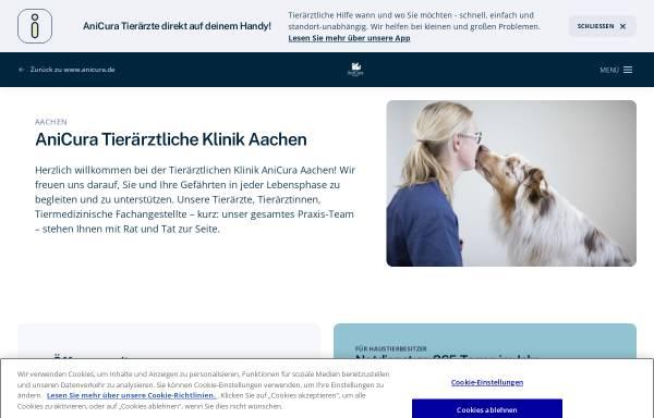 Vorschau von www.tierklinik-aachen.de, Tierblutbank Aachen