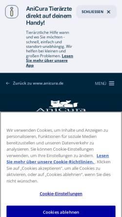 Vorschau der mobilen Webseite www.tierklinik-aachen.de, Tierblutbank Aachen