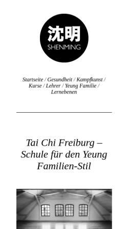 Vorschau der mobilen Webseite shenming.de, GSTCF - Calogero Randazzo