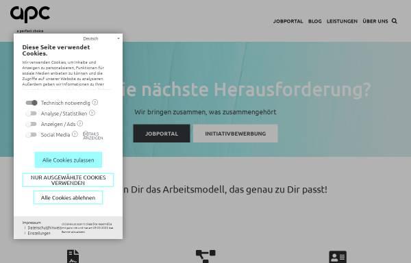 Vorschau von www.apc.co.at, APC Personalleasing GmbH