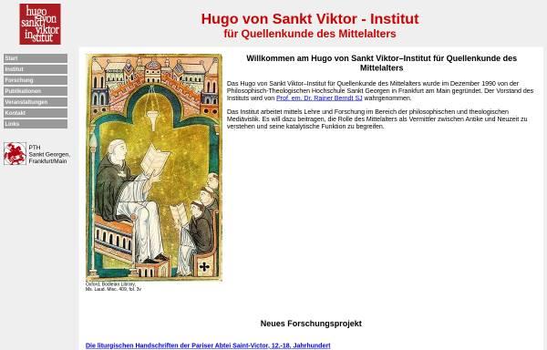 Vorschau von www.sankt-georgen.de, Hugo von Sankt Viktor Institut