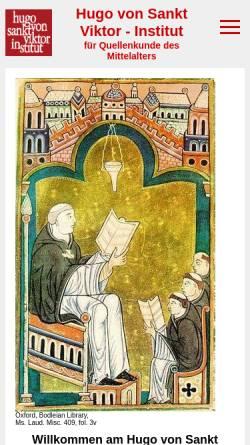 Vorschau der mobilen Webseite www.sankt-georgen.de, Hugo von Sankt Viktor Institut