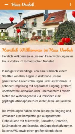 Vorschau der mobilen Webseite www.haus-vorbek.de, Haus Vorbek