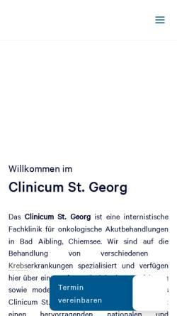 Vorschau der mobilen Webseite www.klinik-st-georg.de, Klinik St. Georg