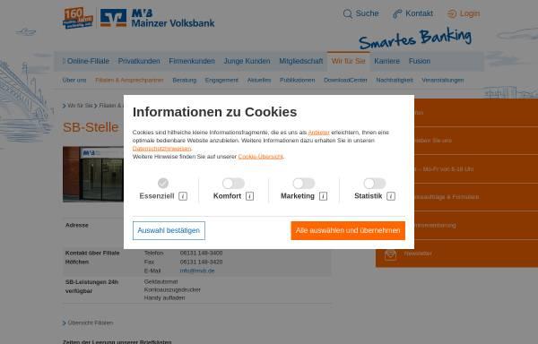 Vorschau von www.mvb.de, Mainzer Volksbank eG
