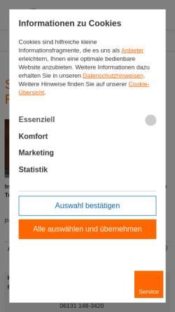 Vorschau der mobilen Webseite www.mvb.de, Mainzer Volksbank eG