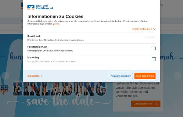 Vorschau von www.vb-hammah.de, Spar- und Kreditbank eG Hammah