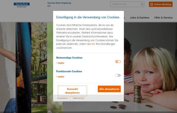 Vorschau von www.sparda-a.de, Sparda Bank Augsburg eG