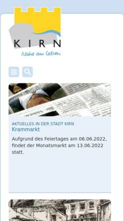 Vorschau der mobilen Webseite www.kirn.de, Stadt Kirn