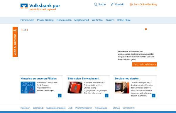 Vorschau von www.vobadirekt.net, Volksbank Pforzheim eG