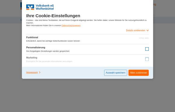 Vorschau von www.volksbankwfsz.de, Volksbank Wolfenbüttel-Salzgitter eG