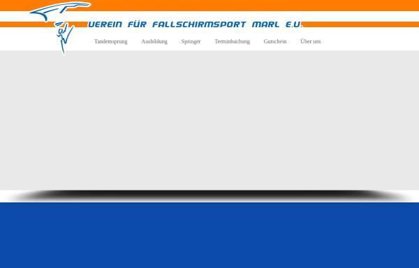Vorschau von www.fallschirmsport-marl.de, Verein fur Fallschirmsport Marl e.V.