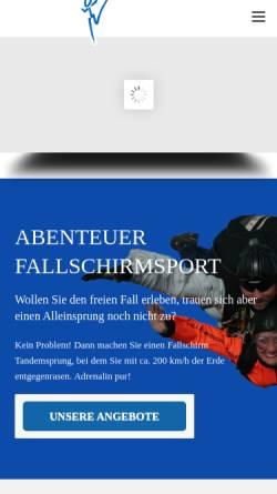 Vorschau der mobilen Webseite www.fallschirmsport-marl.de, Verein fur Fallschirmsport Marl e.V.