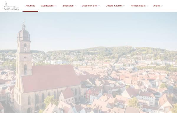 Vorschau von www.amberg-st-martin.de, Kath. Pfarrei St. Martin Amberg