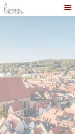 Vorschau der mobilen Webseite www.amberg-st-martin.de, Kath. Pfarrei St. Martin Amberg