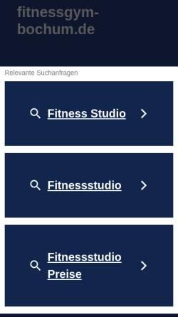 Vorschau der mobilen Webseite www.fitnessgym-bochum.de, Fitness Gym Bochum GmbH