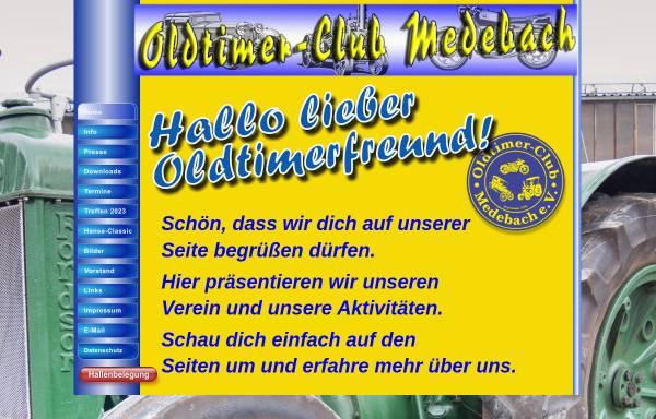 Vorschau von www.oldtimerclub-medebach.de, Oldtimerclub Medebach e. V.