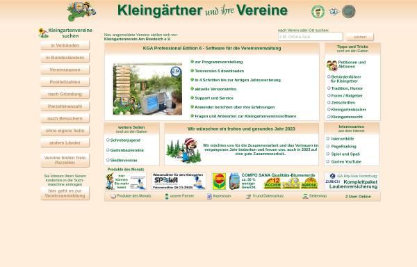 Vorschau von www.kleingartenvereine.de, Kleingärtner und ihre Vereine