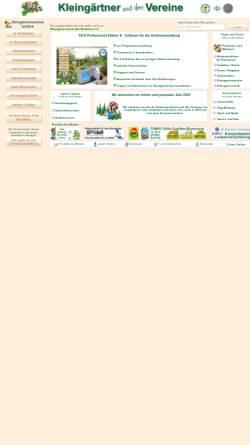 Vorschau der mobilen Webseite www.kleingartenvereine.de, Kleingärtner und ihre Vereine