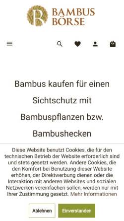 Bambus Centrum Deutschland Pflanzen Haus Und Garten Zuhause