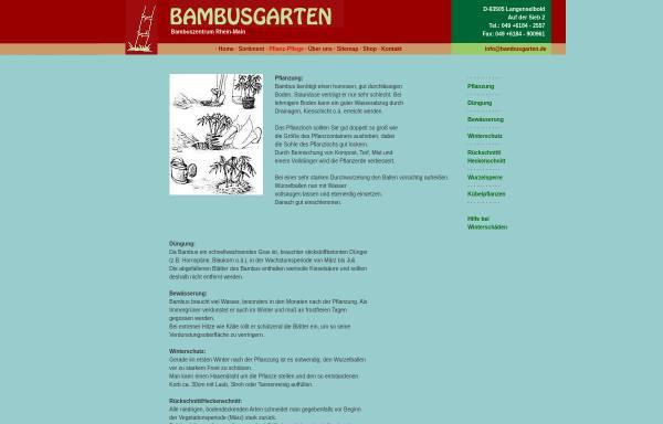 Vorschau von www.bambusgarten.de, Bambuszentrum