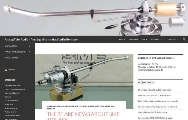 Vorschau von www.analogtubeaudio.de, Analog Tube Audio - Robert Graetke