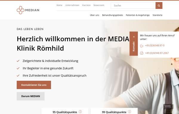 Vorschau von www.median-kliniken.de, AHG Klinik Römhild