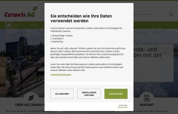 Vorschau von www.ceravis.de, Getreide AG Rendsburg