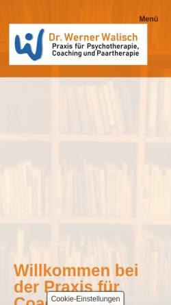 Vorschau der mobilen Webseite www.werner-walisch.at, Dr. Werner Walisch