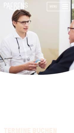 Vorschau der mobilen Webseite www.dr-paessens.de, Gemeinschaftspraxis Dr. Paeßens