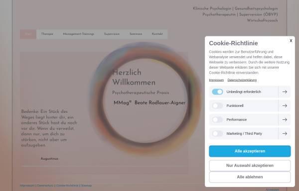 Vorschau von www.beaterodlauer.at, MMag. Beate Rodlauer