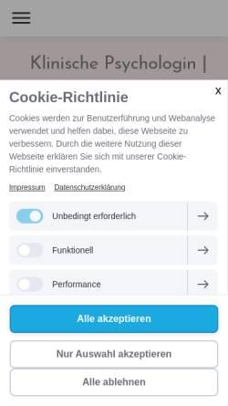 Vorschau der mobilen Webseite www.beaterodlauer.at, MMag. Beate Rodlauer