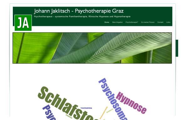 Vorschau von www.psychotherapeut.or.at, Psychotherapie Graz - Johann Jaklitsch