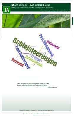 Vorschau der mobilen Webseite www.psychotherapeut.or.at, Psychotherapie Graz - Johann Jaklitsch