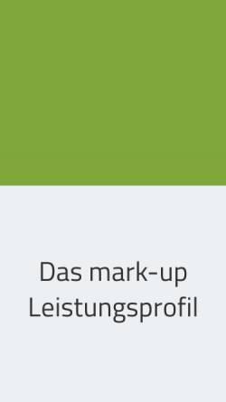 Vorschau der mobilen Webseite www.mark-up.de, Mark-Up Marketing Design GmbH