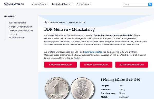 Vorschau von ddr-muenzen.de, DDR-Münzen