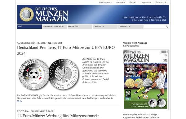 Deutsches Münzen Magazin Münzen Zahlungsmittel Und Wertpapiere