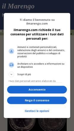 Vorschau der mobilen Webseite www.ilmarengo.com, Numismatik