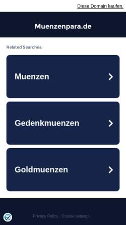 Vorschau der mobilen Webseite www.muenzenpara.de, Sammelgebiet - Deutsche Münzen